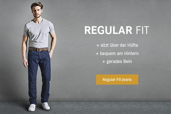 Regular Fit-Jeans.