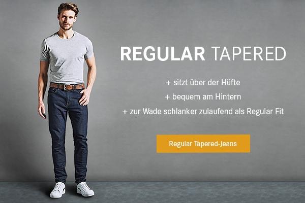 Regular Tapered-Jeans.