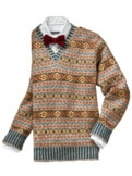 Royal Fair Isle-Pullover