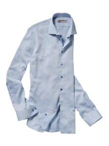 Blau-in-Blau-Hemd