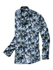 Blumen-bei-Nacht-Hemd