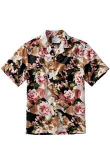 Handelsrouten-Hemd schwarz/kirschblüte Detail 1