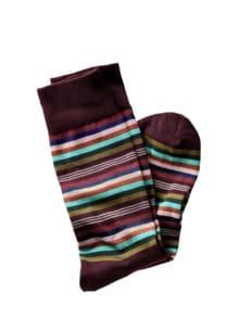 Ringel-Socke Streifen bordeaux Detail 1