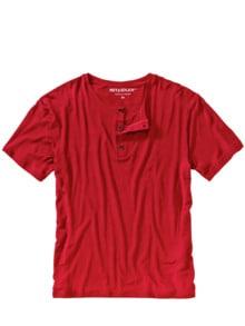 Chill-out-T-Shirt kirschrot Detail 1
