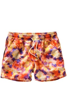 Batik-Badeshorts orange/lila Detail 1