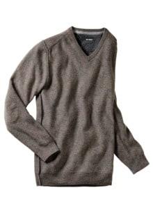 Oatmeal-Pullover V-Neck