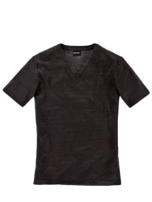 Leinen-V-Shirt