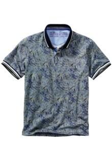 Relax-Polo khaki/blau Detail 1