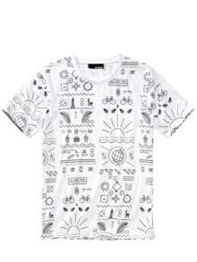 Big-Apple-Shirt Print reinweiß Detail 1