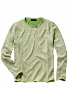 Kick-off-Pullover sand/grün Detail 1