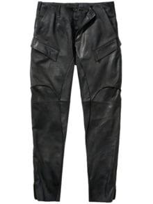 Mailand Lederhose schwarz Detail 1