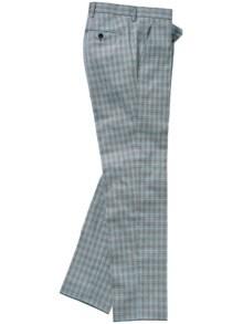 Netzwerker-Anzughose Karo grau Detail 1