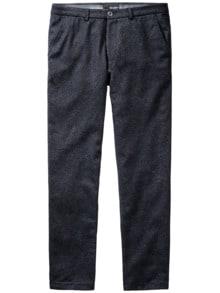 Split Pants Karo blaugrau Detail 1