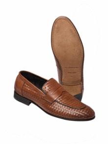 Geflochtener Loafer braun Detail 1