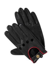 Silverstone-Lederhandschuhe schwarz Detail 1