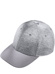 Jersey Basecap heather grey Detail 1