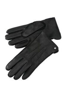 Manufaktur-Ziegenlederhandschuhe schwarz Detail 1