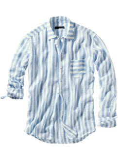 Nonkonformisten-Hemd Streifen blau/weiß Detail 1