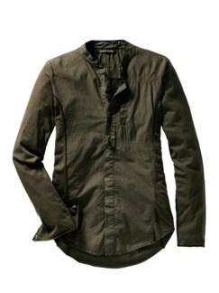 Designerhemd To29P khaki Detail 1