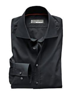 Clear-Shirt Slim Fit schwarz Detail 1