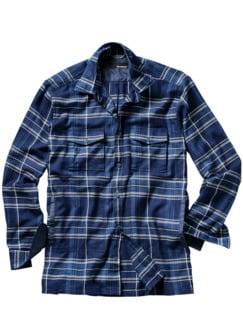 Flanell Lovers Jacket Karo blau Detail 1