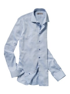 Blau-in-Blau-Hemd blau/weiß Detail 1