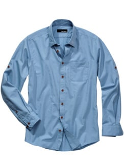 Knitter-Hemd hellblau Detail 1