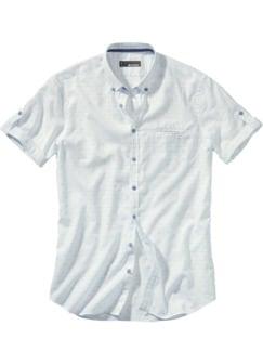 Dechiffrier-Hemd Streifen weiß Detail 1