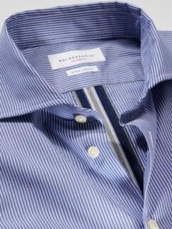 Movimento-Hemd Streifen blau Detail 4