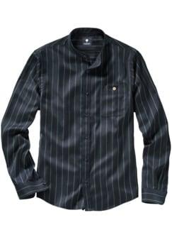 Padrino-Streifenhemd Streifen nachtblau Detail 1