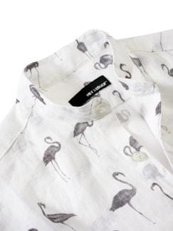 Schwarmintelligenz-Hemd weiß bedruckt Detail 3