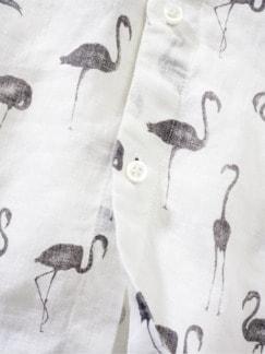 Schwarmintelligenz-Hemd weiß bedruckt Detail 4