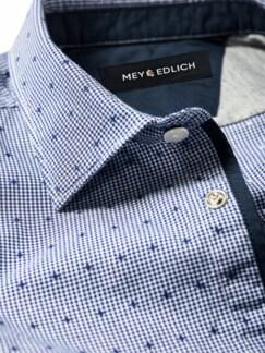Nächste-Liebe-Hemd Rauten blau Detail 4