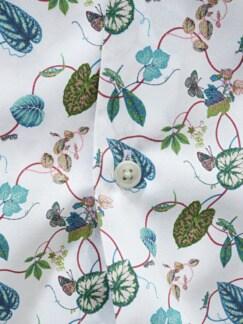 Naturtribut-Hemd Blätter weiß Detail 4