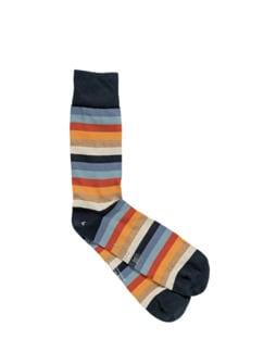 Gestreifte Socken von Corgi Streifen blau Detail 1