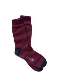 Hafen-Socke bordeaux Detail 1
