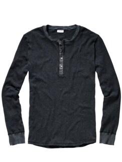 Revival-Shirt Streifen grau Detail 1