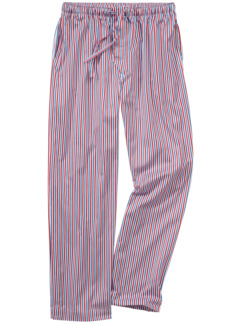 Pyjamahose Trikolore Streifen blau/rot Detail 1
