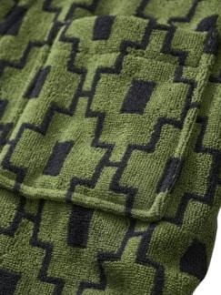 Bademantel Machu Picchu moosgrün Detail 4
