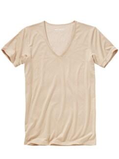 Unsichtbares Shirt natur Detail 1