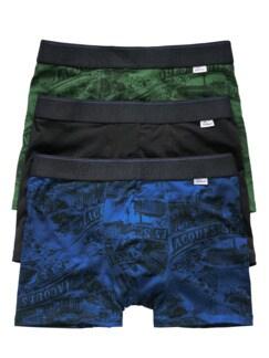 Hipster Ludwig 3er-Pack schwarz, blau, grün Detail 1