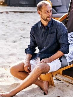 Dereks Loungeshirt blau Detail 2