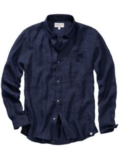 Dereks Loungeshirt blau Detail 1