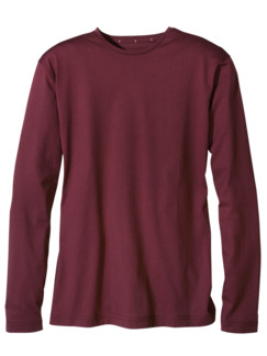 Concept-Shirt Langarm burgund Detail 1