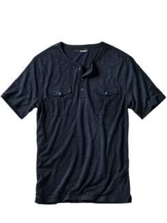 Buchen-Shirt marine Detail 1