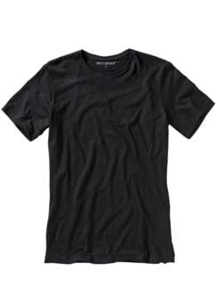 Slim Benchmark-Shirt Rundhals schwarz Detail 1