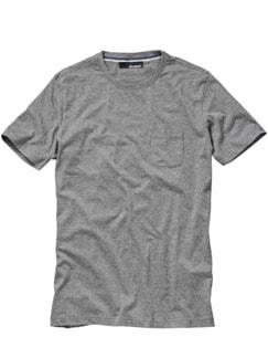 Das T-Shirt mit Tasche grau Detail 1