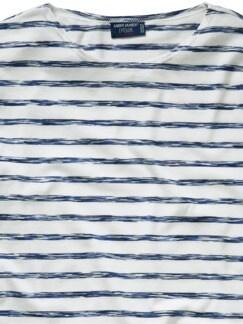 Scribbled-Bretagne-Shirt Streifen blau Detail 4