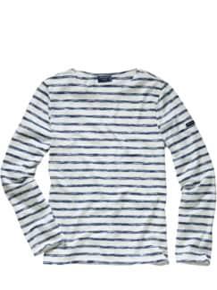 Scribbled-Bretagne-Shirt Streifen blau Detail 1