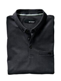 Polo-Shirt graphit Detail 1